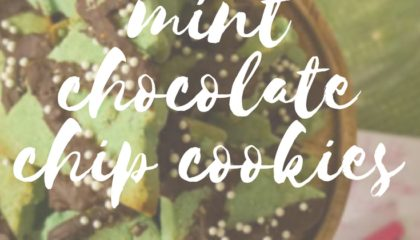 GF Vegan Mint chocolate chip cookies